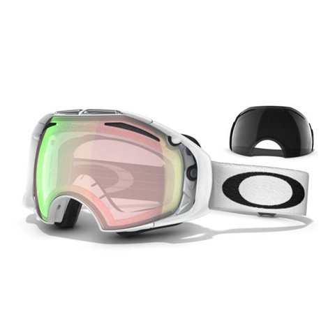 Oakley Airbrake Polished White/ H.I. Yellow & Dark Grey