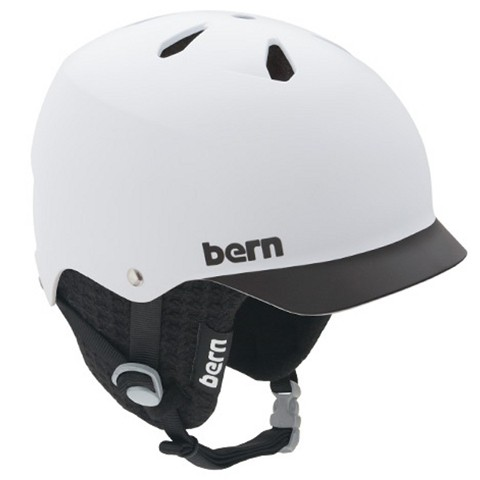 Bern Watts matte white black Brim