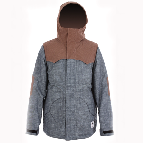 Analog Alder Jacket chambray denim print (men)