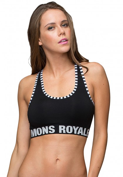 Mons Royale Sports Bra Black