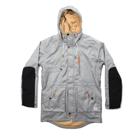 Colour Wear Punisher Parka grey melange (men)