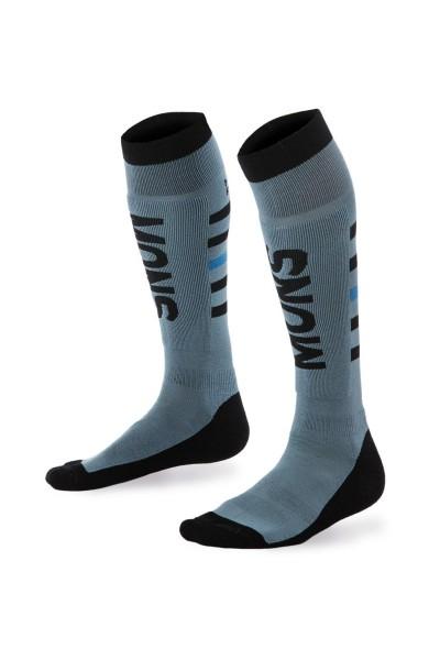 Mons Royale Snow Tech Sock, Lead/Black/Bay Blue