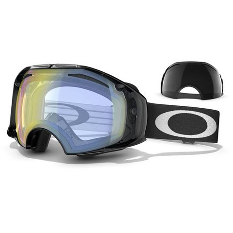 Oakley Airbrake Jet Black H.I. Yellow & Dark Grey
