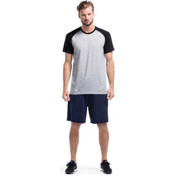Mons Royale Temple Tech T-shirt GEO Black/Grey Marl