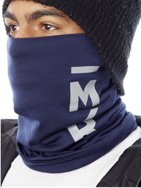 Mons Royale Double Up Neckwarmer, Navy