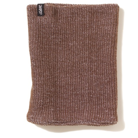 Clast Knitted Neckwarmer Heather Brown
