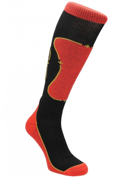 Mons Royale Pro Lite Tech Sock, Black/Flame/Desert