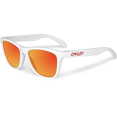 Oakley Frogskin Polished White / Ruby Iridium